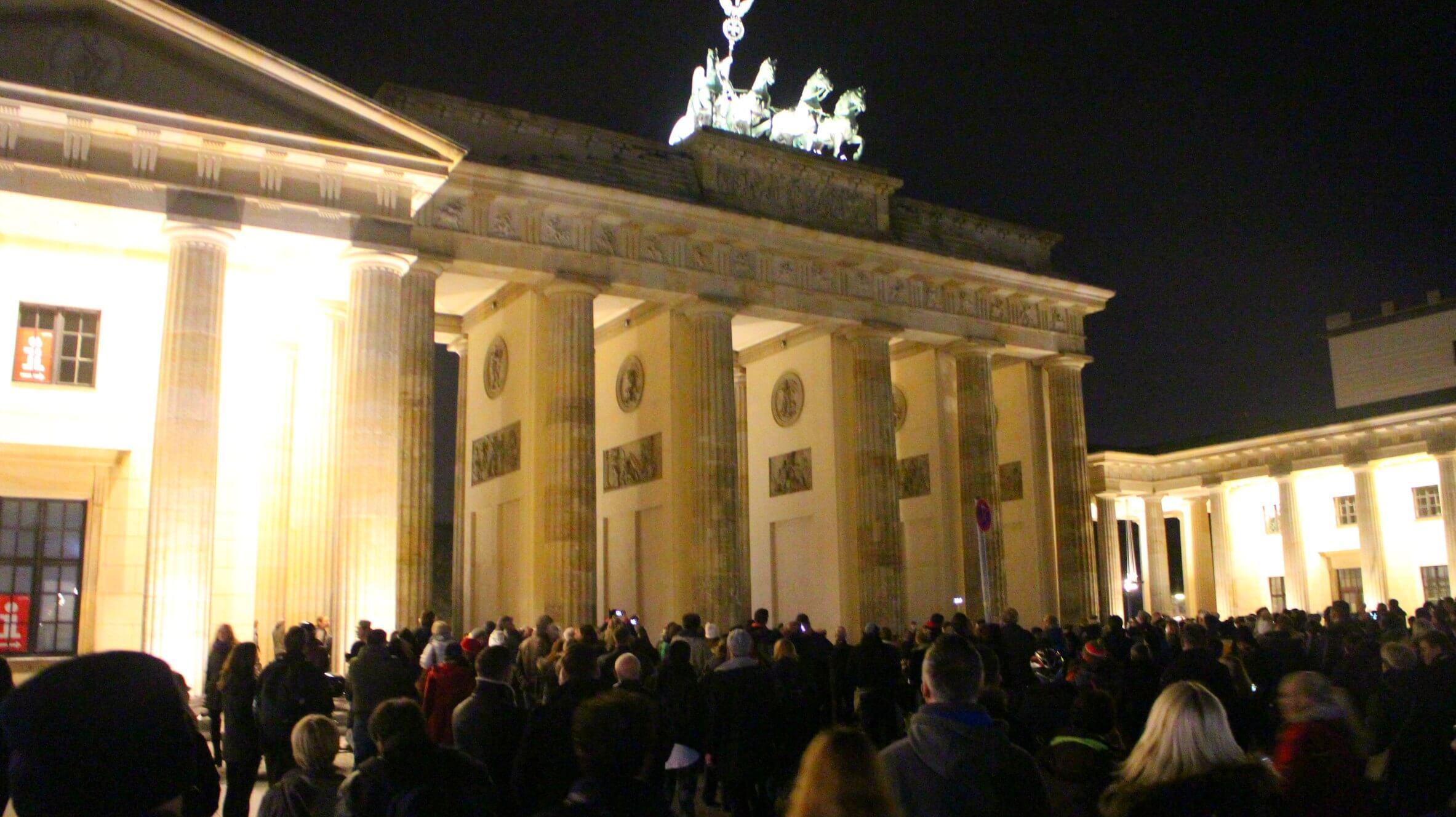 Brandenburger Tor verlicht