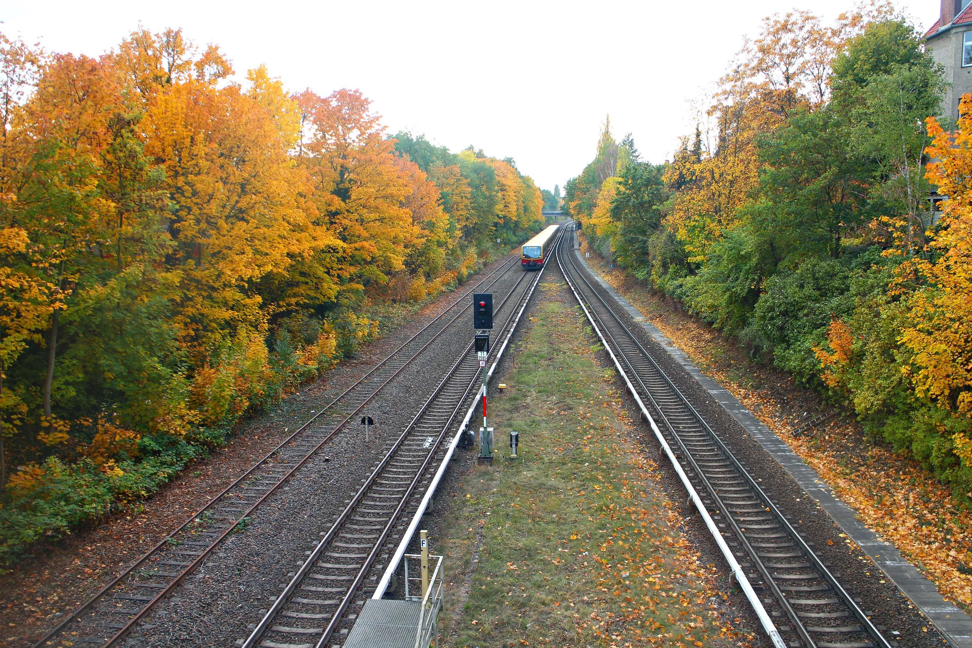 Station Botanischer Garten in de herfst
