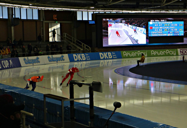 wereldbeker schaatsen in Berlijn