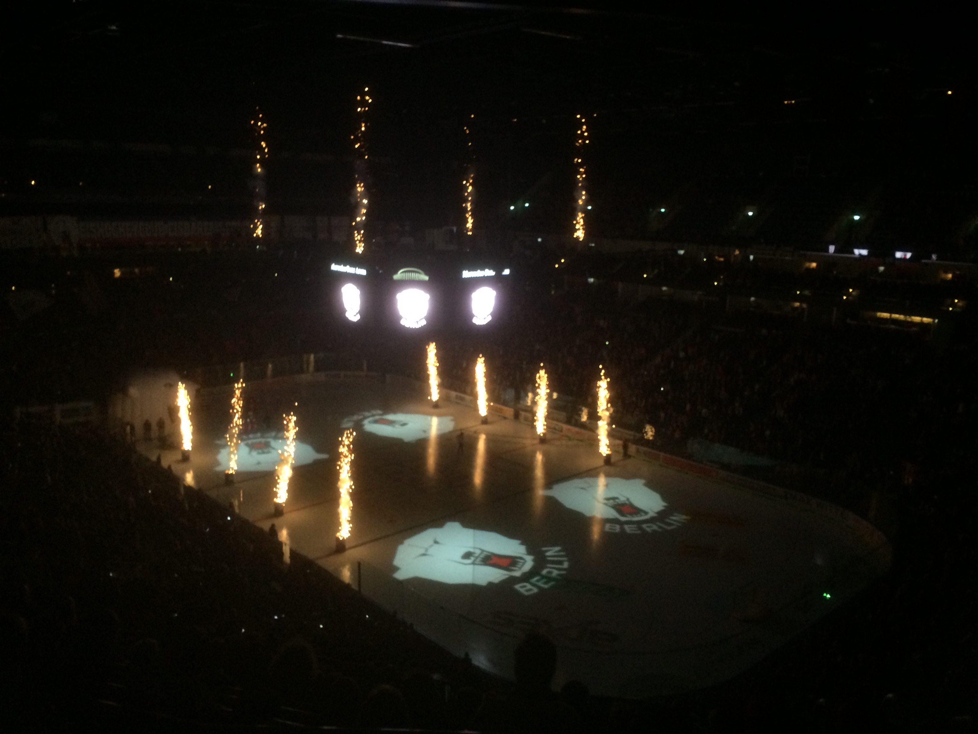 Vuurwerk show Berlijn
