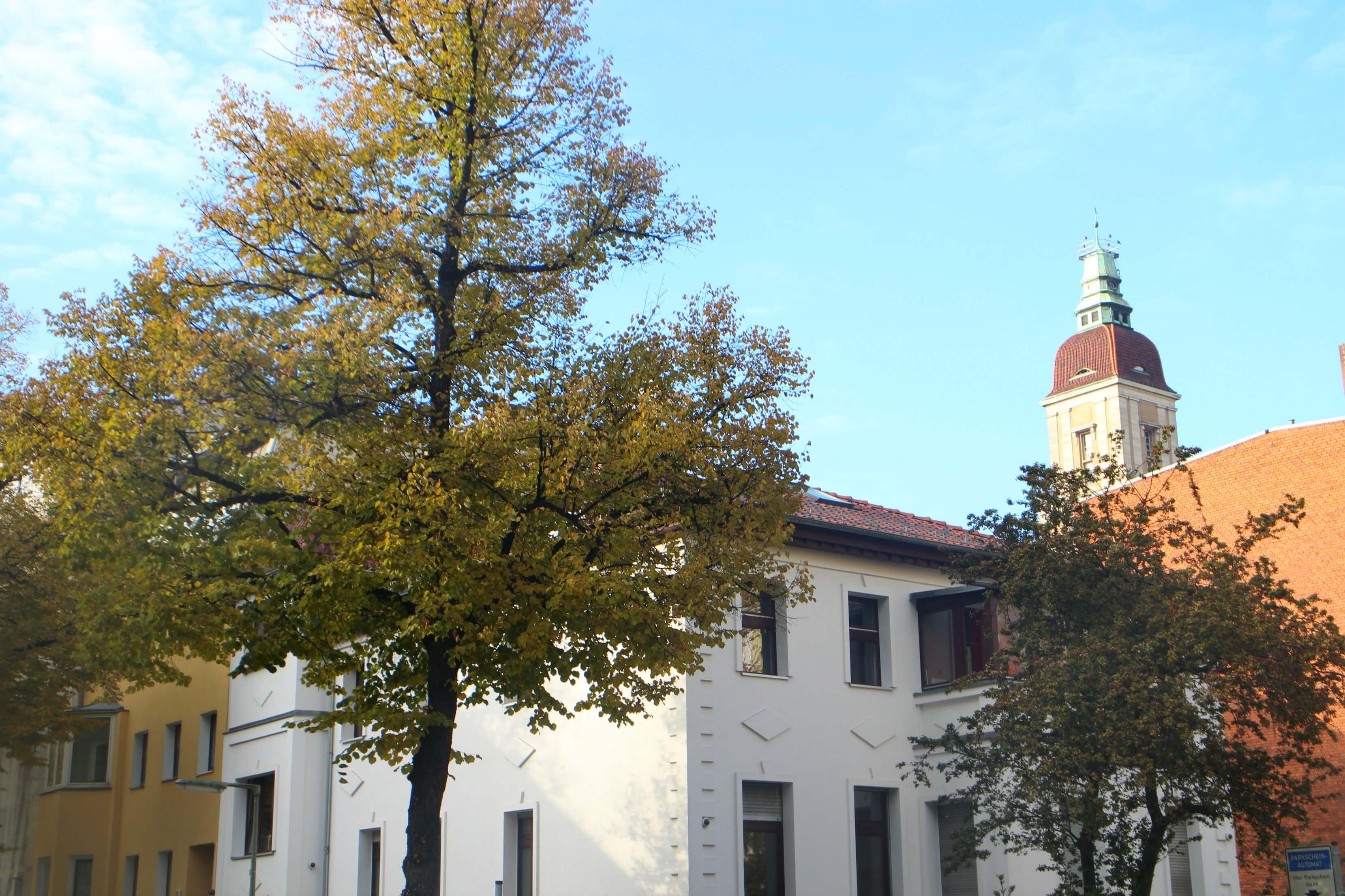 Rathaus Friedenau in de herfst